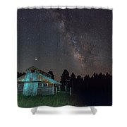 Barn In Rocky Shower Curtain by Gary Lengyel