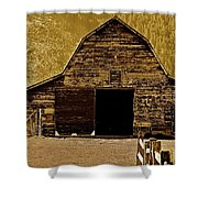 Barn In Sepia Shower Curtain