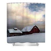Barn In Solitude Shower Curtain