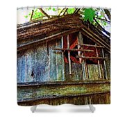 Barn In Summer Colors Shower Curtain