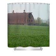 Barn In Summer Shower Curtain