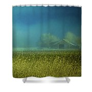 Barn In The Field Shower Curtain