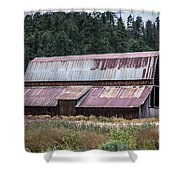 A Colorado Barn In Summer Shower Curtain