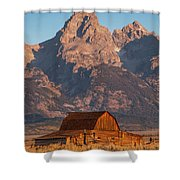 Barn In The Tetons One Shower Curtain