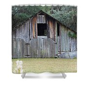 Barn In The Woods Shower Curtain