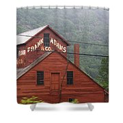 Barn In Vermont Along Amtrack Shower Curtain
