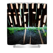 Barn Interior Shadows Shower Curtain