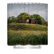 Barn On Hill Shower Curtain