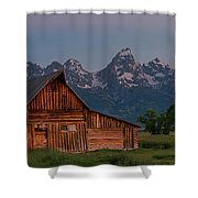 Barn On Mormon Row Shower Curtain by Gary Lengyel