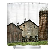 Barn On The Georgia Shore Road Shower Curtain