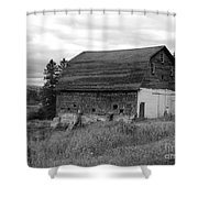 Barn On The River Flat Shower Curtain
