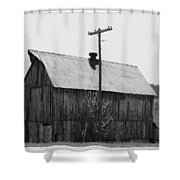 Barn On The Side Of The Road Shower Curtain