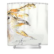 Barn Owl And Tree Shower Curtain