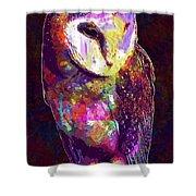 Barn Owl Bird British Nature  Shower Curtain