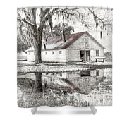 Barn Reflection Shower Curtain