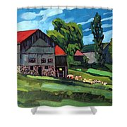 Barn Roofs Shower Curtain