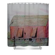 Barn The Red Shower Curtain
