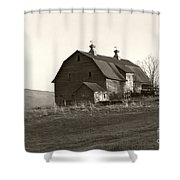 Barn Vermont Horizontal Shower Curtain