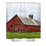 Barn With A Cross Shower Curtain