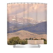 Barn With A Rocky Mountain View  Shower Curtain
