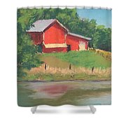 Barn With A View Shower Curtain