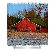 Barn With Double Doors Shower Curtain