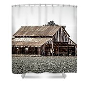 Barn With Outhouse Shower Curtain