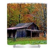 Barn Woodford Mountain Shower Curtain