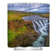 Barnafossar Waterfalls Shower Curtain