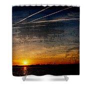 Barnegat Bay Sunset - Jersey Shore Shower Curtain