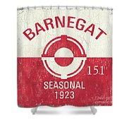 Barnegat Beach Badge Shower Curtain
