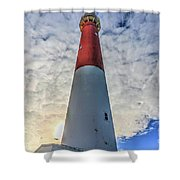 Barnegat Lighthouse In The Clouds Shower Curtain