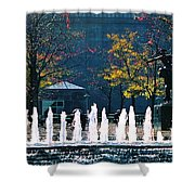 Barney Allis Plaza-kansas City Shower Curtain