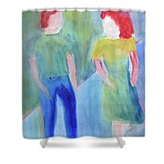 Barney And Elizabeth Shower Curtain