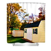 Barns In Autumn Shower Curtain
