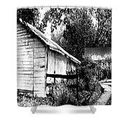 Barns In Black And White Shower Curtain