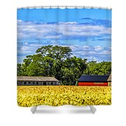 Barns In The Distance Shower Curtain