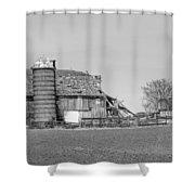 Barn's Last Season Bw  Shower Curtain