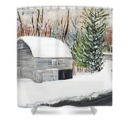 Barns Of West Sand Lake 2 Shower Curtain