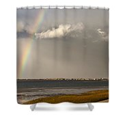 Barnstable Harbor Rainbow Shower Curtain