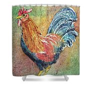 Barnyard Rooster Shower Curtain
