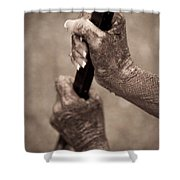 Barred Hands Shower Curtain