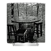 Barrel In The Woods Shower Curtain