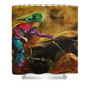 Barrel Racer Shower Curtain