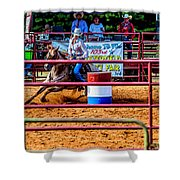 Barrel Racing Contest 4646 Shower Curtain