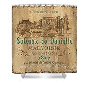 Barrel Wine Label 2 Shower Curtain