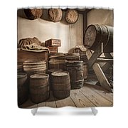 Barrels By The Window Shower Curtain by Gary Heller