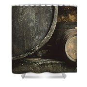 Barrels Of Wine In A Wine Cellar. France Shower Curtain