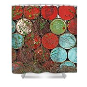Barrels - Play Of Colors Shower Curtain