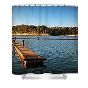 Barren River Lake Dock Shower Curtain